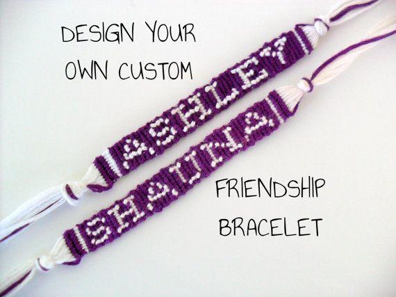 custom name friendship bracelet custom word friendship
