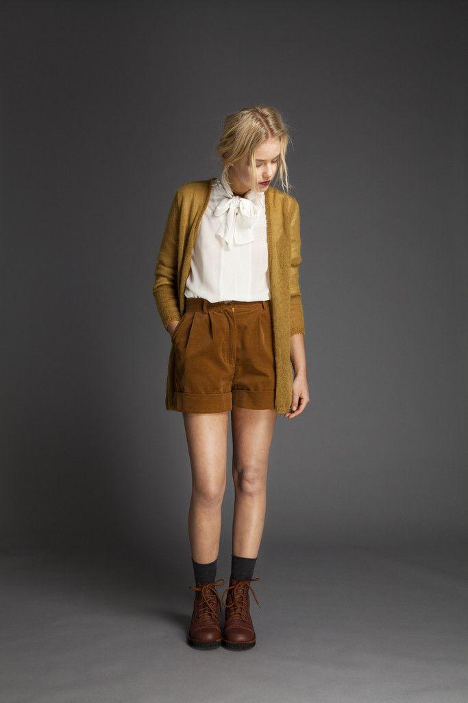Cotton Velvet Shorts