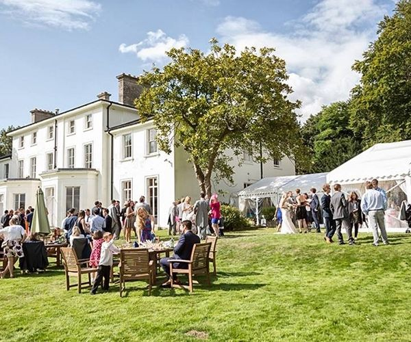 A Drinks Reception On The Lawn At Penton Park