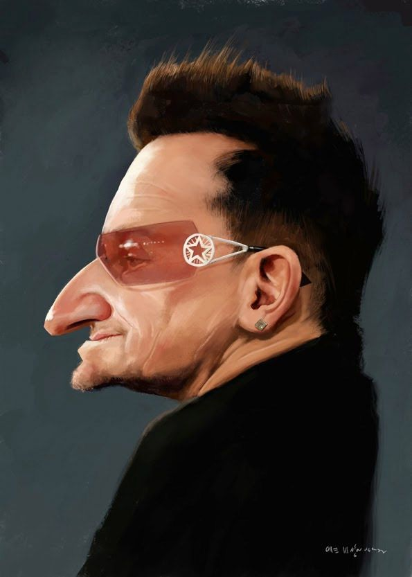 Caricatura de Bono by Por Olle Magnusson