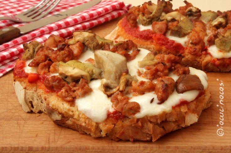 #Bruschetta alla boscaiola #ricette #recipe #food #iocucinocosi #giallozafferano