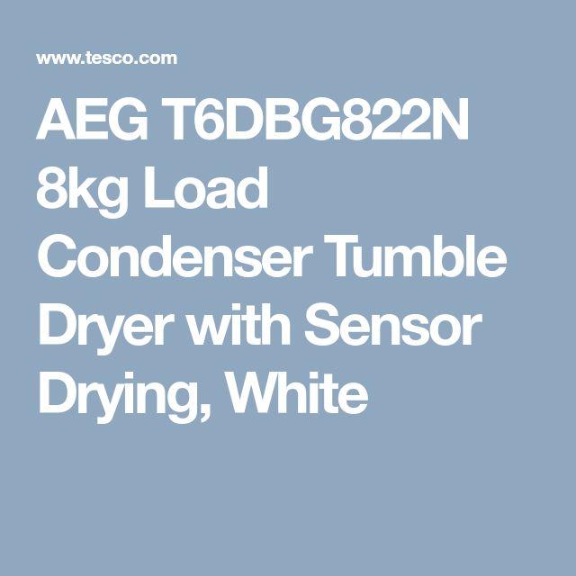 AEG T6DBG822N 8kg Load Condenser Tumble Dryer with Sensor Drying, White