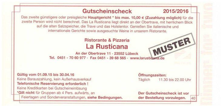 La Rusticana - Ristorante an der Obertrave Lübeck