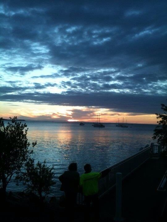 Stradbroke Island sunset.