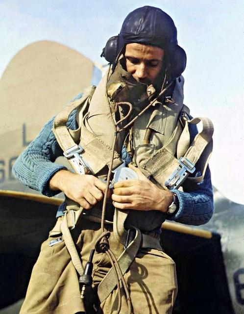 Blenheim Pilot - photo taken in Singapore in 1941.