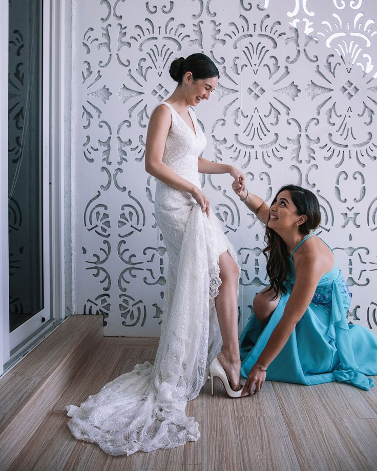 Taking Her Maid Of Honor Duties Seriously Helping Real Glbride