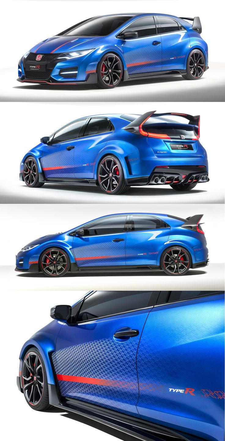 Honda Civic Type-R love it in the blue but would live it in the black more