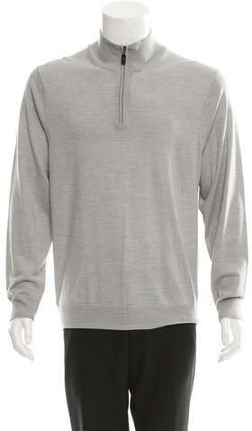Kiton Cashmere Half-Zip Sweater w/ Tags
