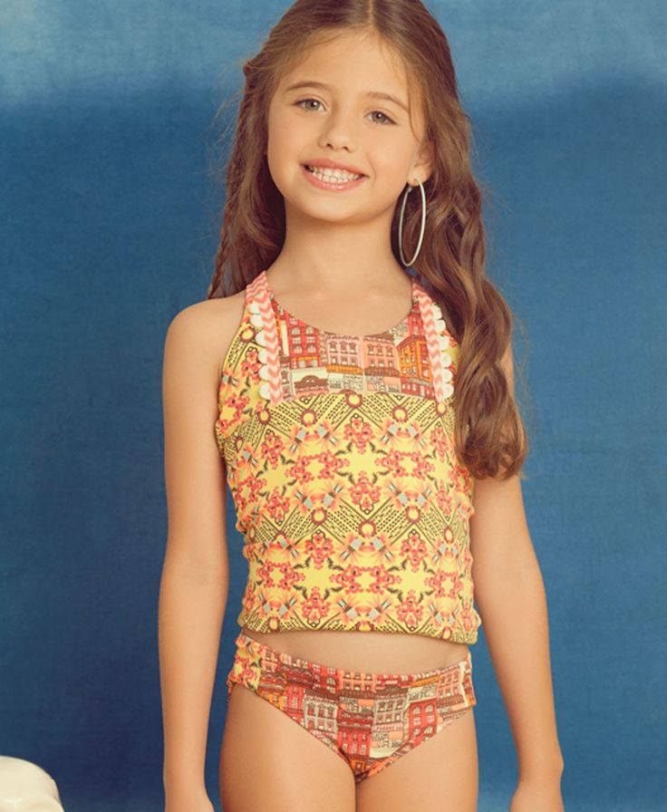 Maaji Kids Swimwear Tangerine Caravan tankini | Kayokoko ...