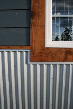 corrugated metal siding wainscoting - Google Search