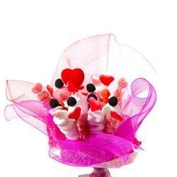 Bouquet bonbons Le Tendre Rose