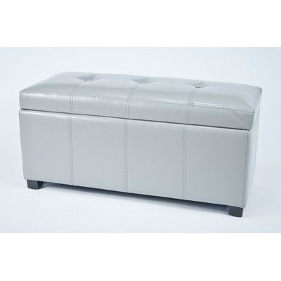 Warehouse of Tiffany Ariel Upholstered Storage Bedroom Bench Color: Grey