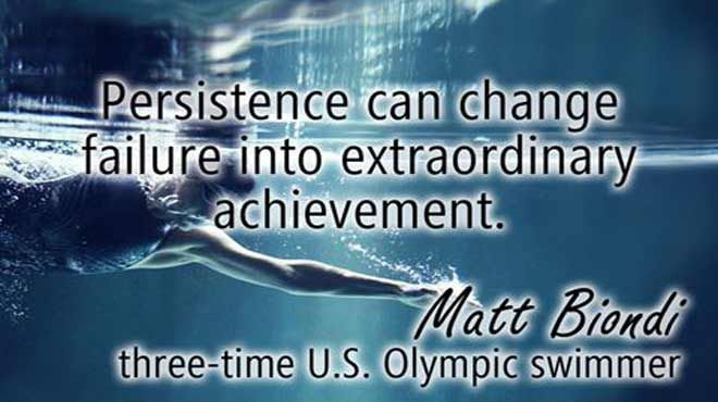 clock qoutes with pics from swim | Persistence can change failure into extraordinary achievement ...