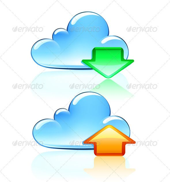 Cloud Hosting Icons by PixelEmbargo Vector illustration of Cloud Hosting Icons Package contains:EPS(8 version),JPG(46674996 pixels,RGB) 100% Vector  Changeable to an