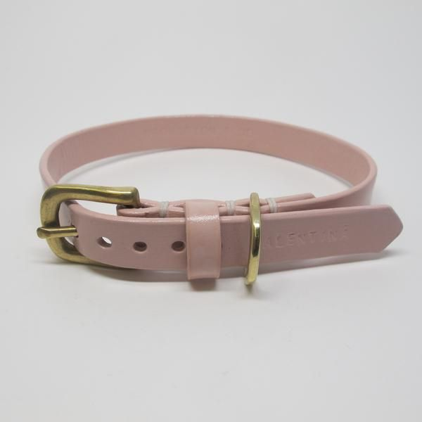 Personalised Pastel Pink Leather Dog Collar Pet Accessories, Dog Toys, Cat Toys, Pet Tricks