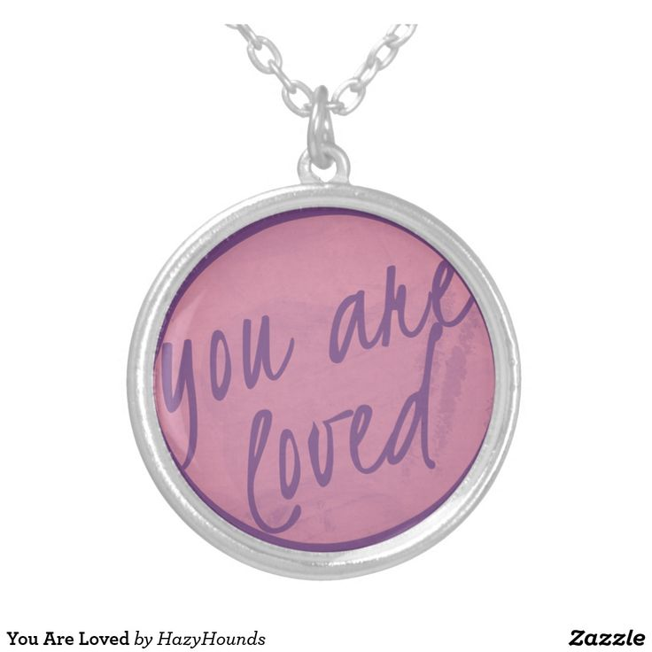 You Are Loved Silver Plated Necklace