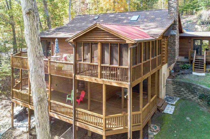 This Lake Hartwell waterfront log cabin is located in the desirable restricted subdivision of Coneross Point - a great area that's less than a 20 minute drive from either Clemson or Seneca! The home was built in 2008 and features all the rustic elements you've been looking for without giving up the upgrades you're accustomed to. Completing the lodge-like feel of the great room is a wood burning masonry fireplace, which you can use with confidence - the sellers have already taken c...