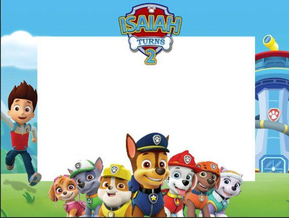 Paw Patrol Birthday Frames Paw Patrol Photo Booth Frame