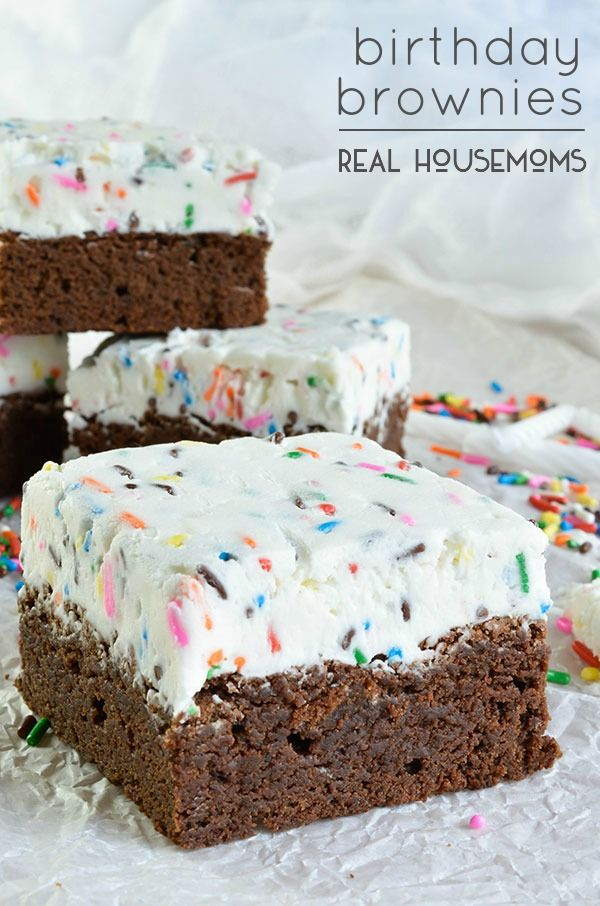 Birthday Brownies are the perfect way to celebrate any occasion, like Monday! ;)