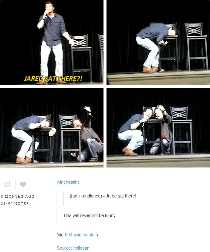 Matt Cohen and Richard Speight Jr. fangirling over where Jared sat. [GIF-SET] Nashville 2011.