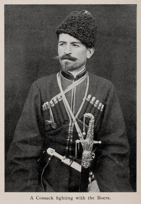 Cossack volunteer on the side of the Boers