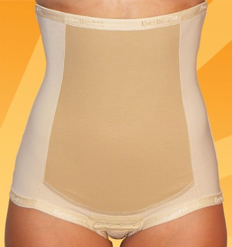 Bellefit Postpartum Girdle. A friend of mine used this for 4 weeks after giving birth and 6 weeks later her stomach is flatter than mine! (i've never had a baby and I'm 24!) DEFINITELY on my buy list for when I get pregnant!