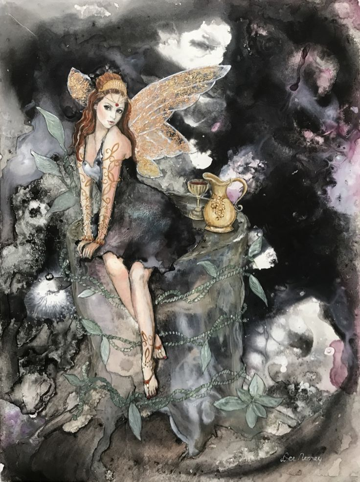 #fairies acrylic and mixed media fairy paitings