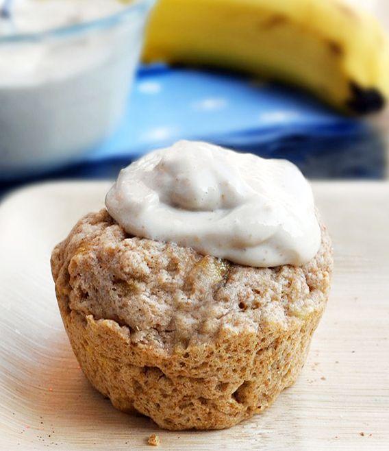 Banana cupcake in the microwave: single-serving (130 calories): Chocolates Covers, Banana Cupcakes, Bananas Breads Muffins, Recipes, Banana Bread, Bananas Cupcakes, Serving Bananas, Baking Soda, Single Servings