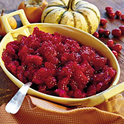 Thanksgiving Dinner Side Dishes: Double Cranberry Apple Sauce Recipes < 60 Spectacular Thanksgiving Side Dish Recipes - Southern Living