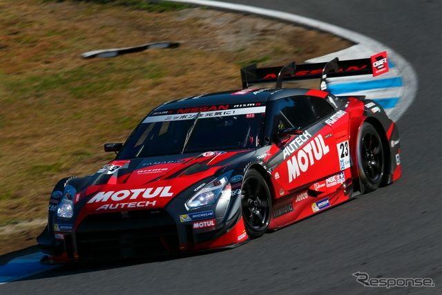 The #23 GT-R, GT500 class pole winner