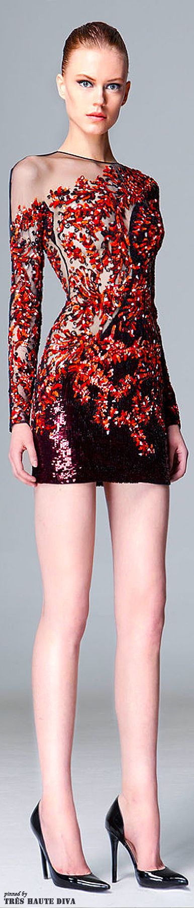 Zuhair Murad Pre-Fall 2014 beaded cocktail dress