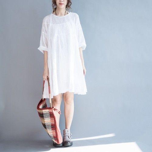 Cool Plus Size Summer Dresses  2017 Summer fine white cotton dresses embroidery lace details plus size sundress... Check more at http://24myshop.cf/fashion-style/plus-size-summer-dresses-2017-summer-fine-white-cotton-dresses-embroidery-lace-details-plus-size-sundress/