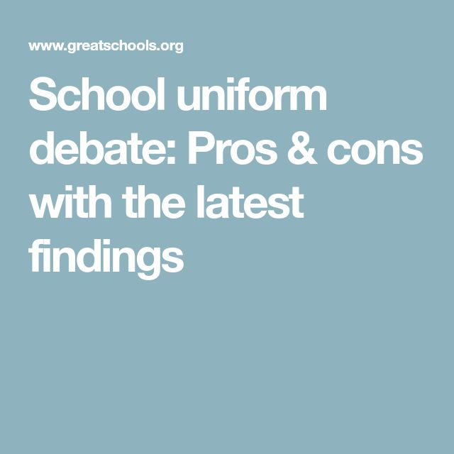 School uniform debate: Pros & cons with the latest findings