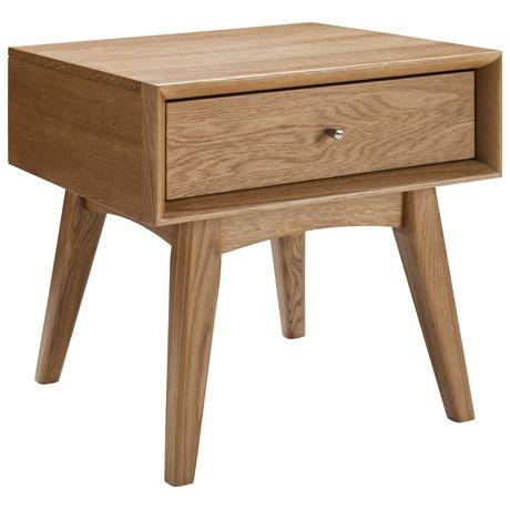 Portobello 1 Drawer Bedside Table  Natural - Freedom