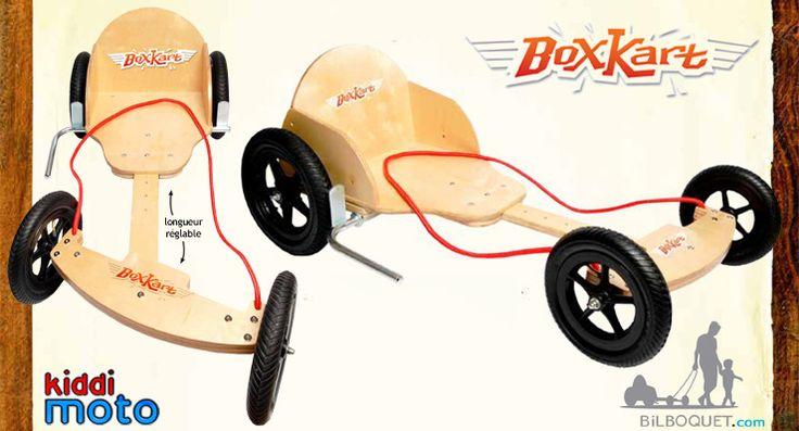 BoxKart Kart en bois - Naturel Kiddimoto