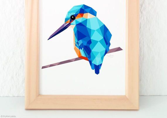 Walvis geometrische druk Originele illustratie animal