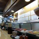 双葉寿司 - 店内写真:店内の雰囲気です。 店内はL字型のカウンター席のみとなています。