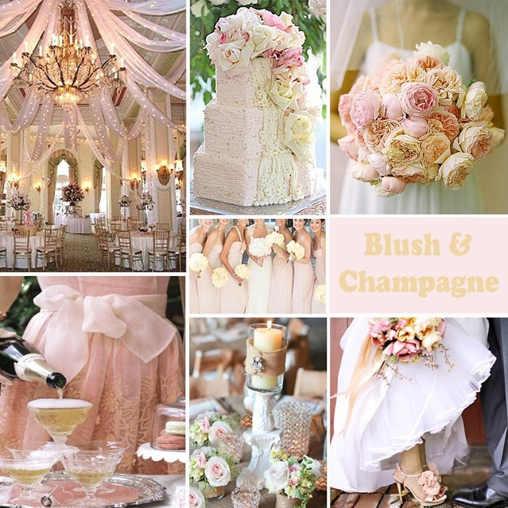 Blush And Champagne Wedding Colors Is A Subtle Combination By Deedeebean