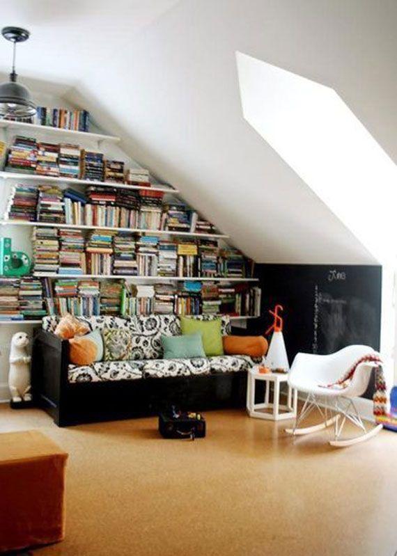 Another Cool Built In Bookshelf In Attic Space Aiken
