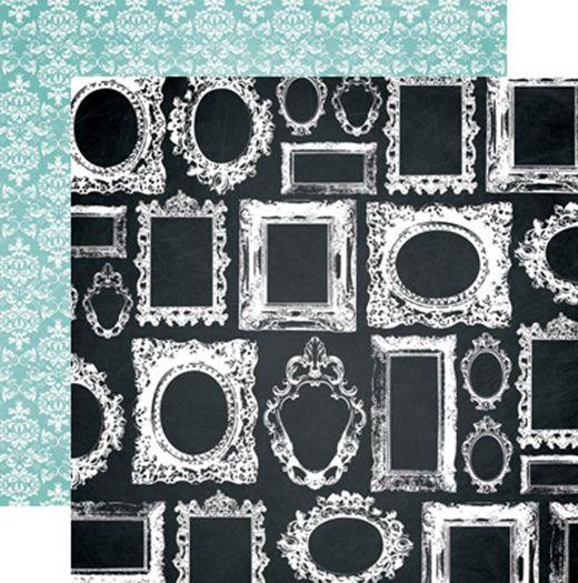 Teresa Collins - Memorabilia Collection - 12 x 12 Double Sided Paper - Frames at Scrapbook.com