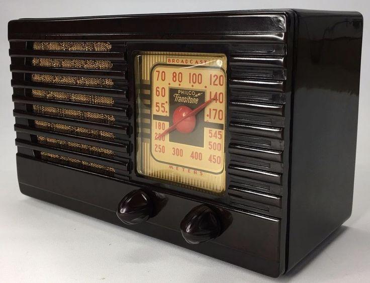 Stunning Antique Compact PreWar 1939 Philco Bakelite Tube Radio Transitone PT-25 #Philco