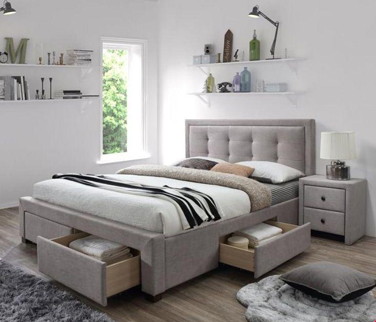Dwuosobowe łóżko Evora z funkcjonalnymi szufladami to propozycja naszego sklepu na eleganckie i użyteczne meble do sypialni.  Dostawa cała Polska.  Zapraszamy