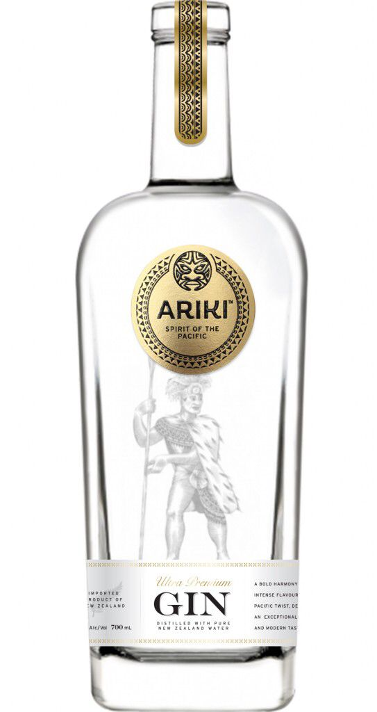 Brand new release of ultra premium #gin #Ariki from #NewZeland
