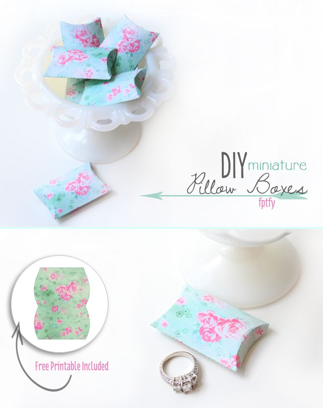 Diy Gift Boxes: Free DIY Miniature Pillow Box Printables