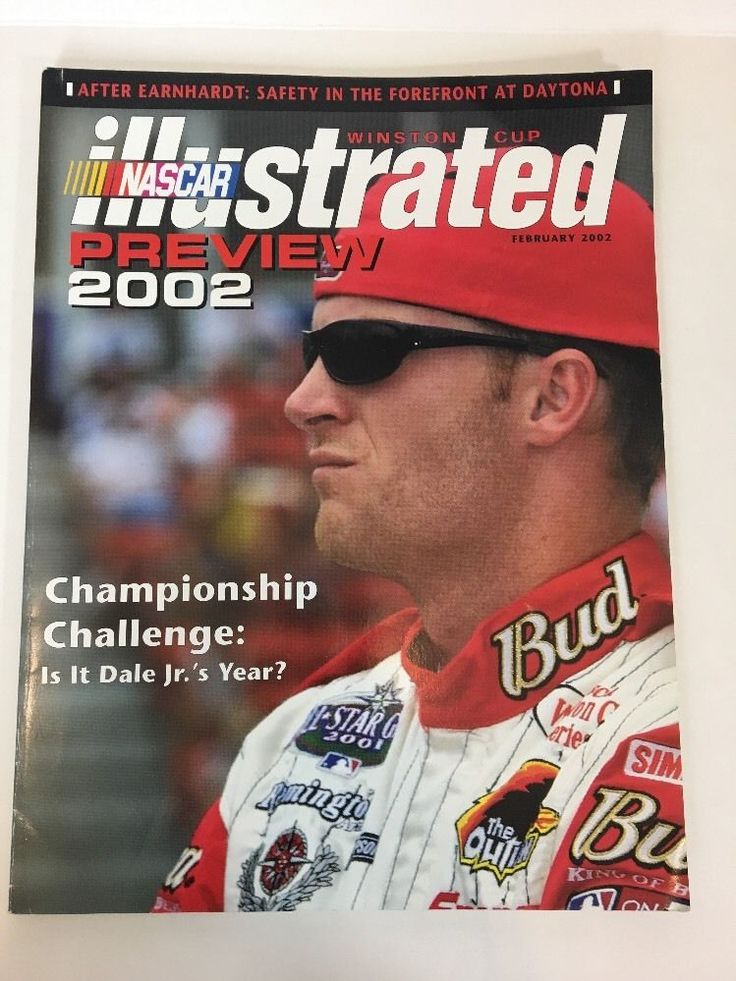 NASCAR Illustrated February 2002 - Dale Earnhardt Jr Retired From Racing  | eBay