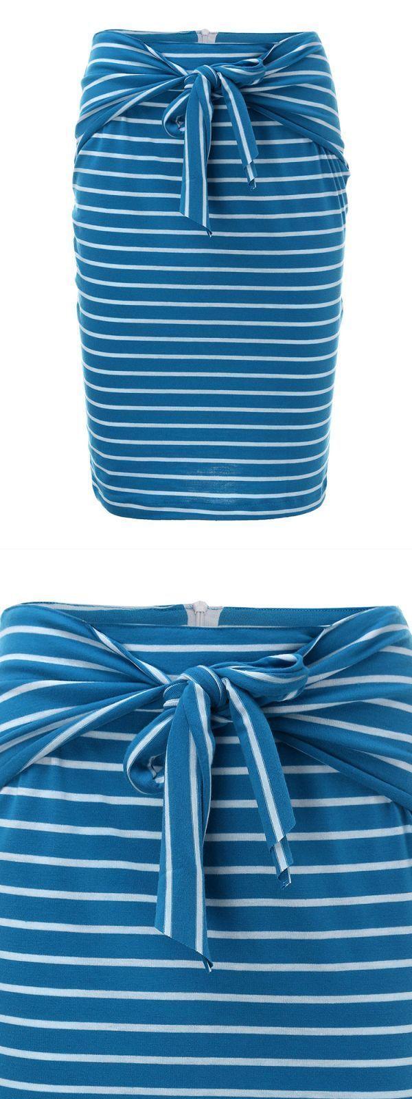 Lulu b skirts elegant women stripe bowknot midi bodycon pencil skirt #basma #k #skirts #hamp;m #skirts #2015 #kmart #bed #skirts #skirts #n #crop #tops