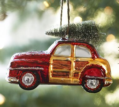 Woody Car Glass Ornament