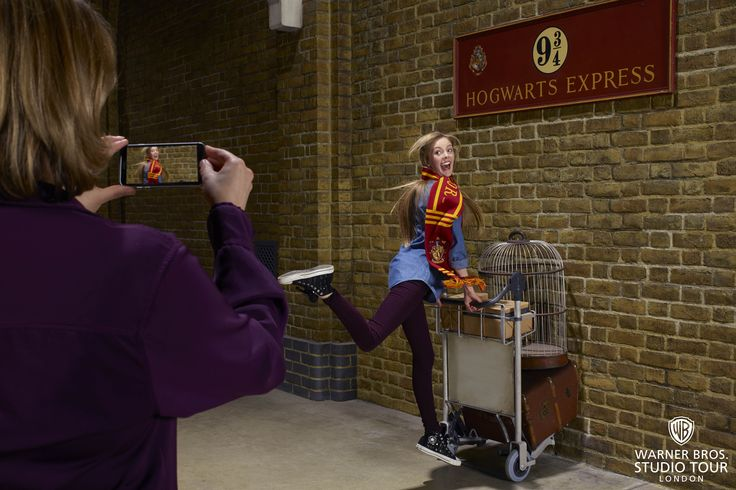 Throughout the Harry Potter film series, British steam train no. 5972, 'Olton Hall', was used as the Hogwarts Express. Scenes featuring the working engine – including the very last scene to be shot, in which a grown-up Harry, Ron and Hermione wave their own children off as they head to school – were filmed on a soundstage at Warner Bros. Studios Leavesden and on a track running the full length of the Studios' 100-acre backlot.