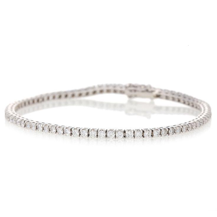 18K White Gold Diamond Tennis Bracelet For Sale by Uwe Koetter.    www.uwekoetter.com
