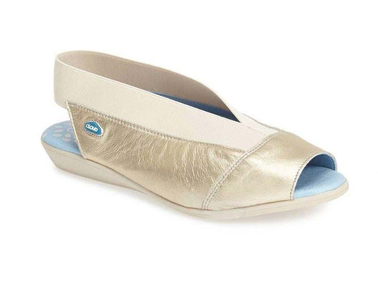 Cute gold Calibers #sandals by Cloud Footwear